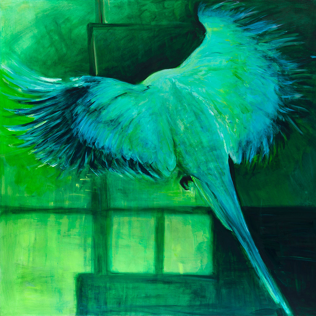 Parakeet Original Acrylic Painting on Canvas by Sarita Keeler