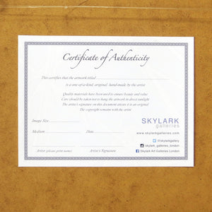 Certificate of Authenticity Sarah Knight