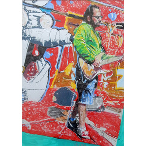 Busker Chris Sparsis Artwork by Stella Tooth