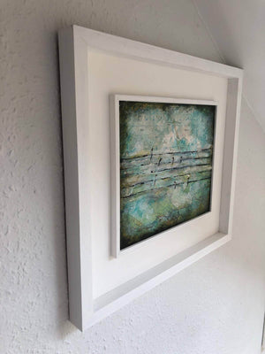 Swallows on Wire by Sarita Keeler Framed Mixed Media Side