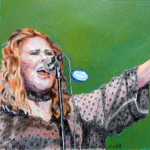 T'pau Carol Decker mixed media on paper by Stella Tooth