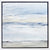 Wall Tofino Seascape by Sarah Knight. An original semi-abstract oil seascape painted in shades of blue and grey framed in white wood