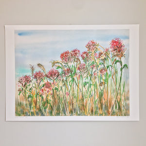 Wild Flowers by Helen Trevisiol Duff giclée print full