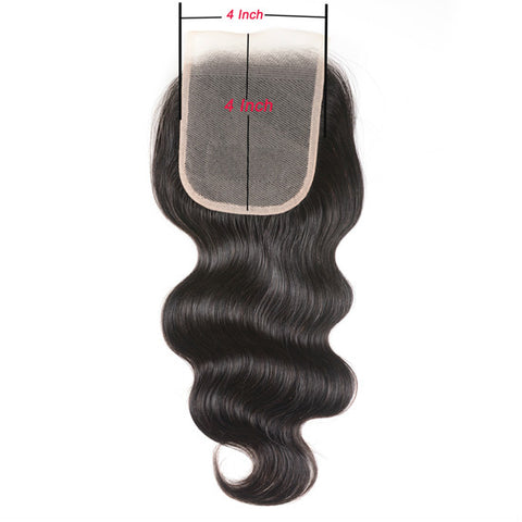 4 *4 lace closure body wave