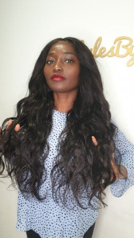 5by5 lace closure bodywave wig