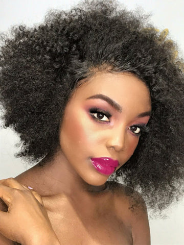 Afro lace wig human hair Uk