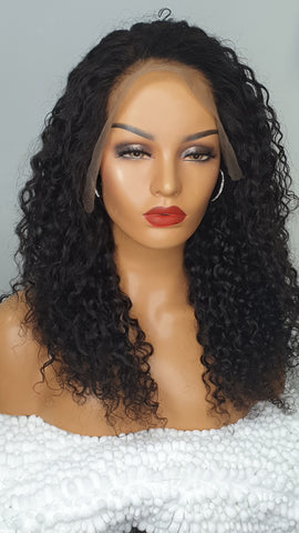 lace frontal deep curls custom wig
