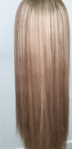 blonde low light human hair wig