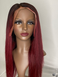 red lace frontal wig