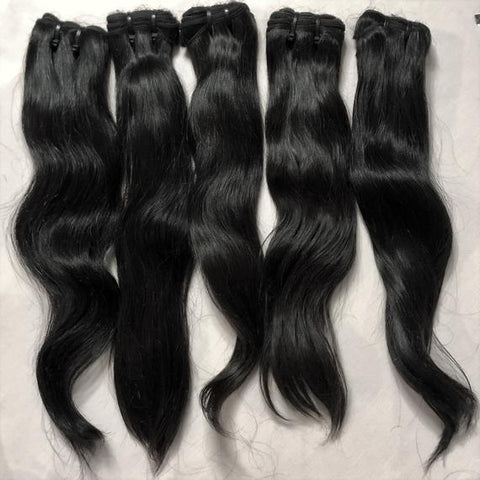 Premium Straight Real India Human hair  Uk