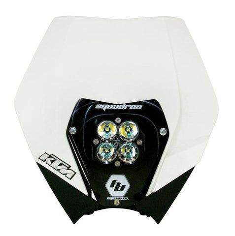 KTM Headlight Kit AC 08-13 w/ Headlight Shell White Squadron Sport Baja Designs