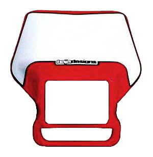 Motorcycle Headlight Shell Red Baja Designs