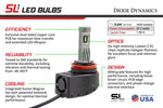H9 SL1 LED Bulbs Pair Diode Dynamics - San Diego Overland