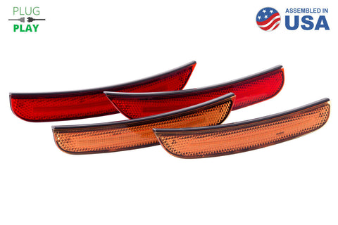 15-20 Dodge Charger LED Sidemarkers Amber/Red Set Diode Dynamics