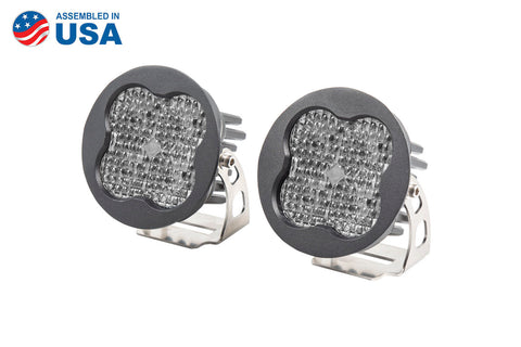 Worklight SS3 Pro White Flood Round Pair Diode Dynamics