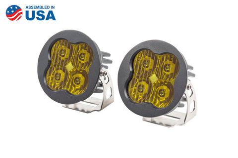 Worklight SS3 Pro Yellow Driving Round Pair Diode Dynamics