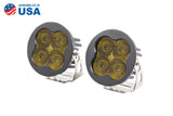 Worklight SS3 Pro Yellow SAE Fog Round Pair Diode Dynamics