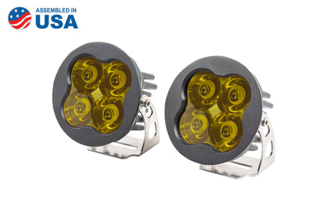 Worklight SS3 Pro Yellow Spot Round Pair Diode Dynamics