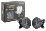 SS3 LED Fog Light Kit for 2011-2014 Dodge Charger White SAE/DOT Driving Pro Diode Dynamics