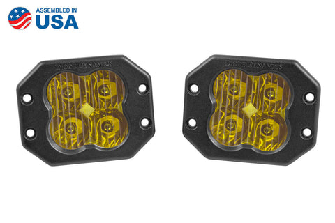 Worklight SS3 Sport Yellow Driving Flush Pair Diode Dynamics