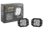 Worklight SS3 Pro White Flood Flush Pair Diode Dynamics - San Diego Overland