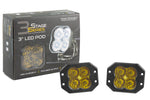Worklight SS3 Pro Yellow SAE Fog Flush Pair Diode Dynamics