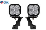 Tacoma Ditch Light Kit SS3 LED For 16-20 Toyota Tacoma Pro White Driving Diode Dynamics