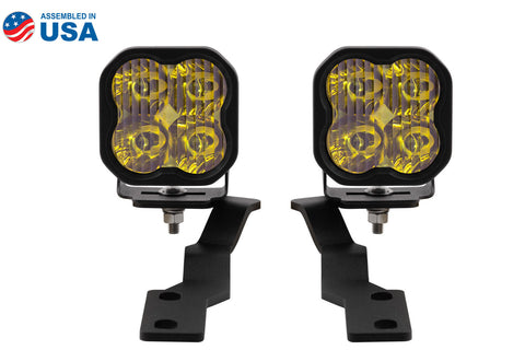 Tacoma Ditch Light Kit SS3 LED For 16-20 Toyota Tacoma Pro Yellow Driving Diode Dynamics - San Diego Overland