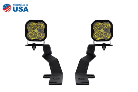 SS3 LED Ditch Light Kit for 15-20 Ford F-150/Raptor Sport Yellow Driving Diode Dynamics