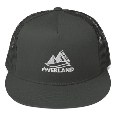 5 Panel Trucker Cap | Yupoong 6006 Embroidered | San Diego Overland - San Diego Overland