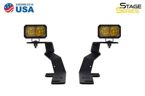 Stage Series 2 Inch LED Ditch Light Kit for 2015-2020 Ford F-150, Pro Yellow Combo - San Diego Overland