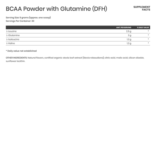 BCAA Powder with L-glutamine - Karim Chubin