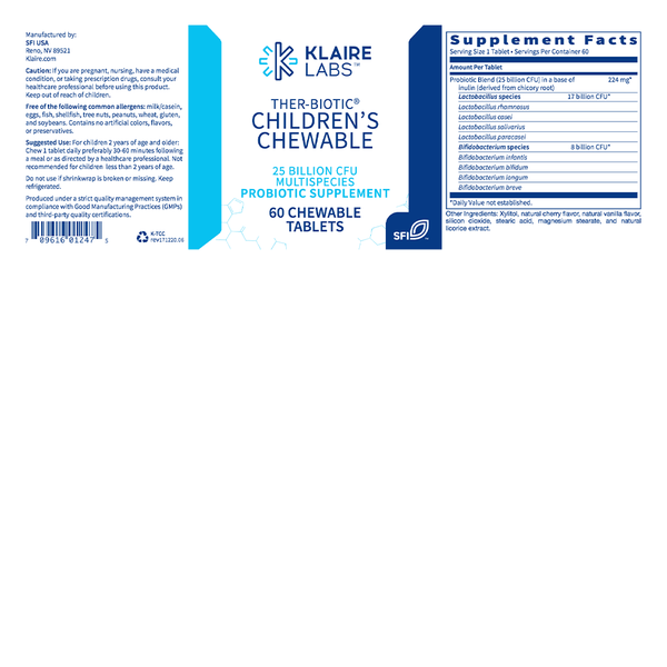 Ther-Biotic Children's Chewable - Karim Chubin