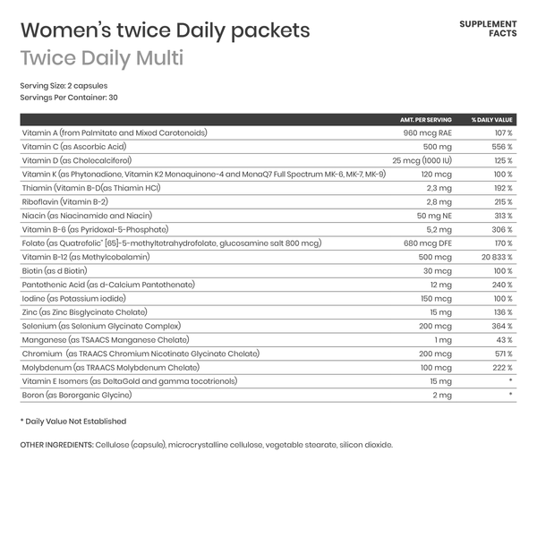 Women's Twice Daily Essential Packets - Karim Chubin