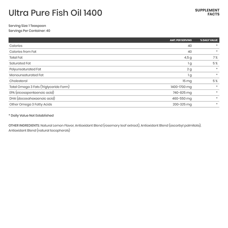 Ultra Pure Fish Oil 1400