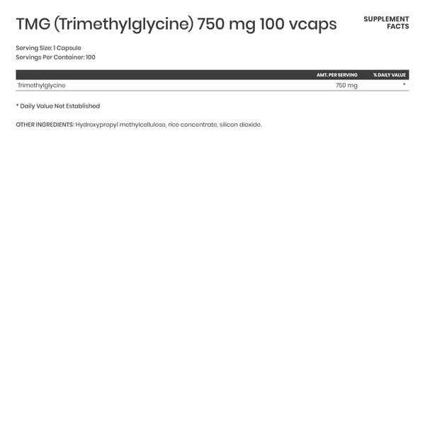 TMG (Trimethylglycine) 750 mg