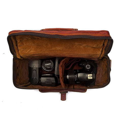 camera bag leather