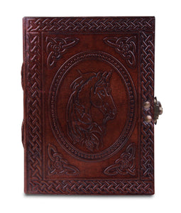Unicorn Embossed Leather Paper Journal 5 x 7 Inch - Classy Leather Bags