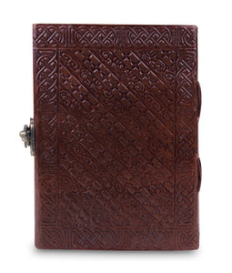 Writing Notebook Handmade Leather Bound Daily Notepads - Classy Leather Bags