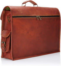 Load image into Gallery viewer, Rustic Vintage Leather Satchel Messenger Bag 15/16/18 Inch - Classy Leather Bags