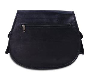 Black Women's Sling Crossbody Leather Purse - Classy Leather Bags