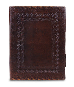 Vintage Handmade Leather Journal With Lock And Key - Classy Leather Bags