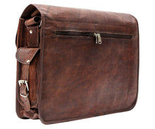 Load image into Gallery viewer, Rugged Vintage Leather Messenger Bag