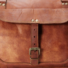 "Load image into Gallery viewer, 24"" Genuine Leather Travel Weekender Bag - Classy Leather Bags"