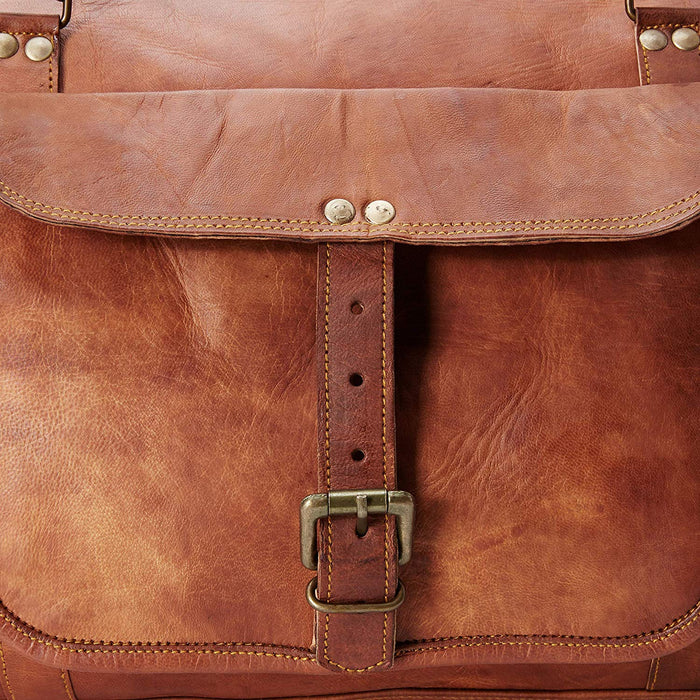 "24"" Genuine Leather Travel Weekender Bag - Classy Leather Bags"