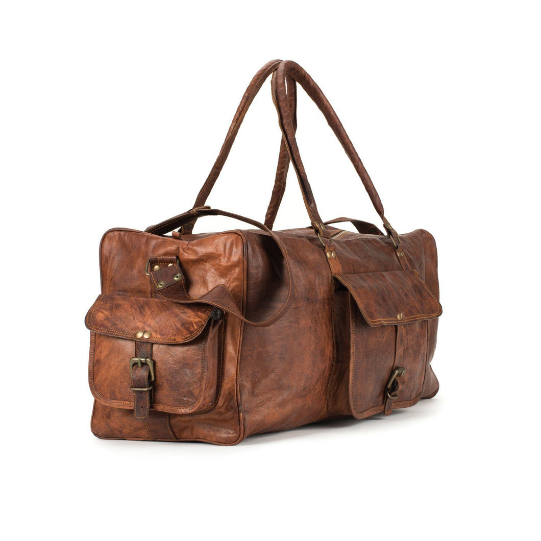 Portland Leather Duffle Travel Bag
