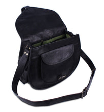 Load image into Gallery viewer, Black Women's Sling Crossbody Leather Purse - Classy Leather Bags