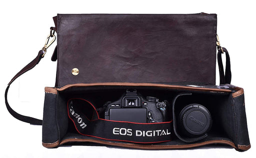 Professional DSLR/SLR Leather Camera Bag - Classy Leather Bags