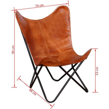 Load image into Gallery viewer, Handcrafted Butterfly Chair Real Leather Brown - Classy Leather Bags