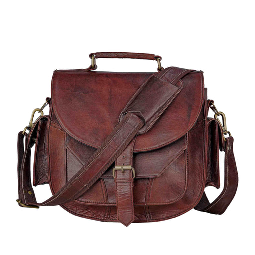 Classy DSLR Leather Saddle Camera Bag Classy Leather Bags